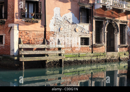Canal in Venice, Italy - Stock Image