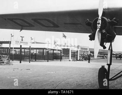 Boarding gates at the Berlin-Tempelhof Airport. - Stock Image