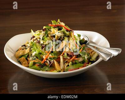Oriental Chicken Salad - Stock Image