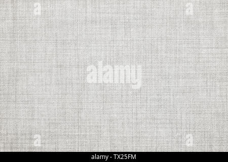 White colored seamless linen texture or fabric canvas background - Stock Image