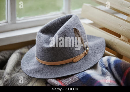 Felt hat - Stock Image
