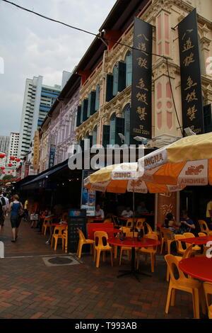 hawker stall, chinatown, singapore - Stock Image