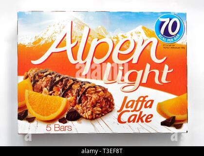 Alpen Light,Jaffa cake,5 pack, - Stock Image