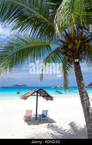 A White Sandy Beach on Redang Island, Malaysia - Stock Image