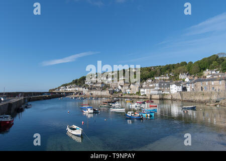 Mousehole, Cornwall, UK. 20th May 2019. UK Weather. Warm sunny morning at Mousehole, with fine weather forecast for the week ahead. Credit Simon Maycock / Alamy Live News. - Stock Image