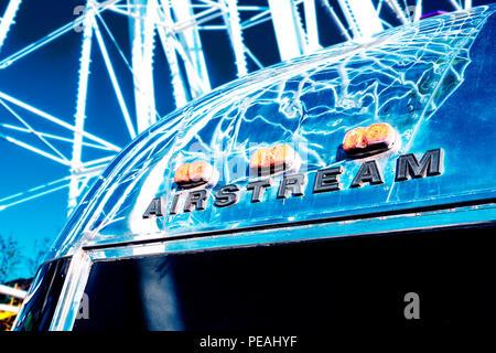 Airstream,Caravan,name,sign - Stock Image
