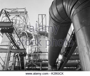North Thames Gasworks Slough Berkshire UK – 1970 - Stock Image