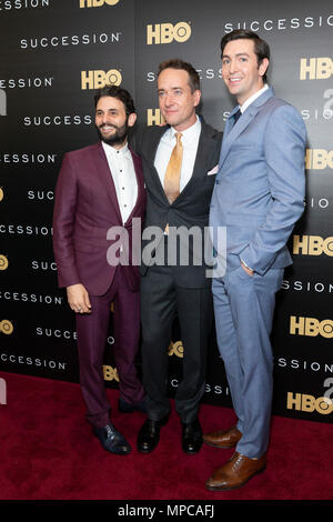 New York, NY - May 22, 2018: Arian Moayed, Matthew Macfadyen, Nicholas Braun attend HBO drama Succession premiere at Time Warner Center Credit: lev radin/Alamy Live News - Stock Image