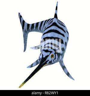 Eurhinosaurus Ichthyosaur Stripped Pattern - Eurhinosaurus was a carnivorous Ichthyosaur reptile that lived in Europe during the Jurassic Period. - Stock Image
