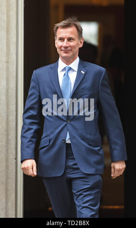 Foreign Secretary Jeremy Hunt leaves after a cabinet meeting at 10 Downing Street, London. - Stock Image