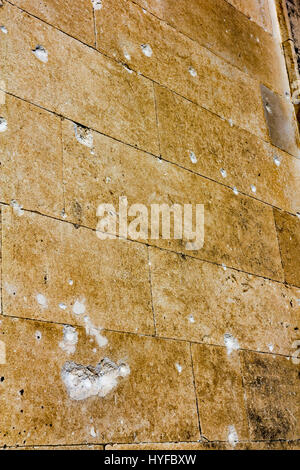 Bullet damage in walls of the old city in Dubrovnik - Stock Image