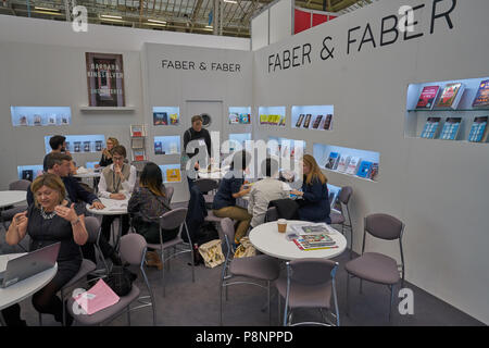 faber and faber  book fair - Stock Image