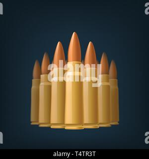 picture of bullets - Stock Image