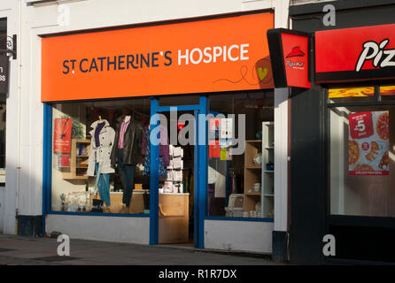 Exterior Of A St Catherines Hospice Charity Shop - Stock Image