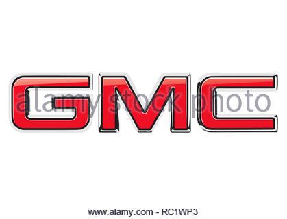 GMC General Motors Company logo - Stock Image
