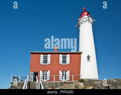 Fisgard Lighthouse on Vancouver Island, near Victoria, BC, Canada. - Stock Image