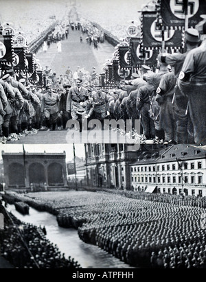 Pages from an Austrian photograph album 1930s with cut out photographs of Hitler FOR EDITORIAL USE ONLY - Stock Image