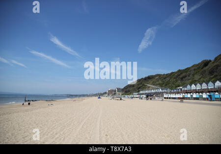 A view of Manor Steps beach in Bournemouth, which has been awarded a Blue Flag award by Keep Britain Tidy. - Stock Image