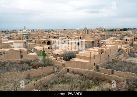 Meybod cityscape, Yazd province, Iran - Stock Image
