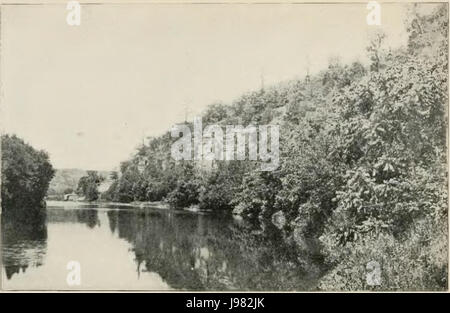 Oneota River, near Decorah   History of Iowa - Stock Image