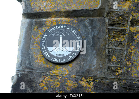 Ballydehob Viaduct Plaque Commemorating the Railway Line - Stock Image