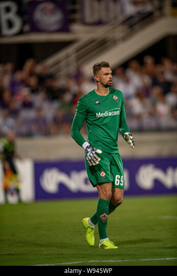 Bartlomiej Dragowski (Fiorentina) during the pre-season friendly ...