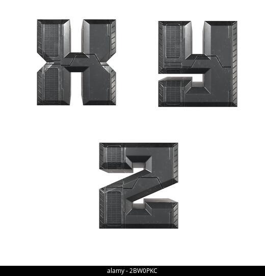 Details about  /Galvanized Metal 3D Letter Z