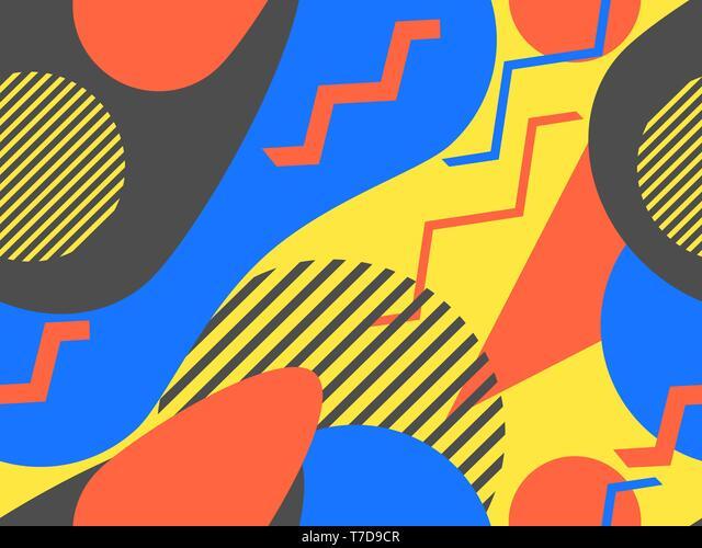 A Abstract Wall Art MEMPHIS Milano Geometric Art Geometric Print decor Colorful Wall Art 80/'s style art 80/'s print Abstract Print