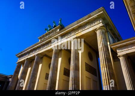 Das berühmte Brandenburger Tor In Berlin. Deutschland Stockbild