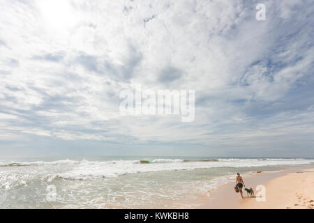 Asien - Sri Lanka - induruwa - Die grosse Wildnis der Strand Stockbild