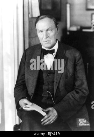 CLARENCE DARROW (1857-1938) amerikanischer Anwalt über 1922 Stockbild