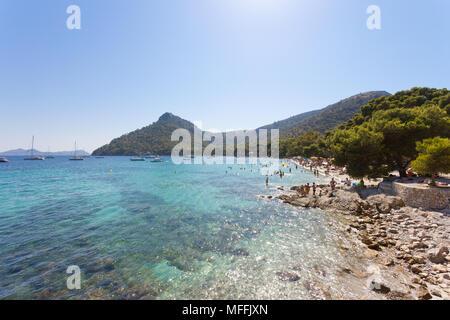 Platja de Formentor, Mallorca, Balearen, Spanien - Türkis Wasser an der verträumten Strand von Platja de Formentor Stockbild