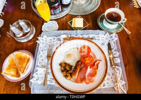 England, traditionelles Englisches Frühstück Stockbild