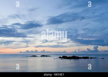 Mauritius - Afrika - Während der blauen Stunde genommen Stockbild