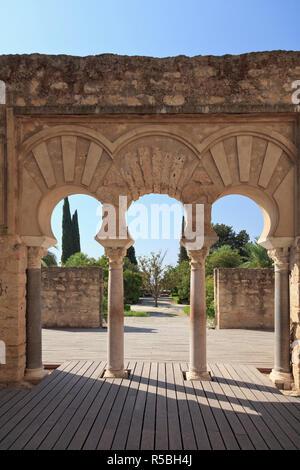 Spanien, Andalusien, Cordoba, Madinat al-Zahra Ausgrabungsstätte, Palace City Stockbild