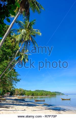 Thailand, Provinz Trang, Ko Sukorn Insel, der Strand in der Nähe von Ban Siammai Dorf Stockbild