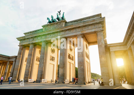 Europa, Deutschland, Berlin, Brandenburger Tor Stockbild