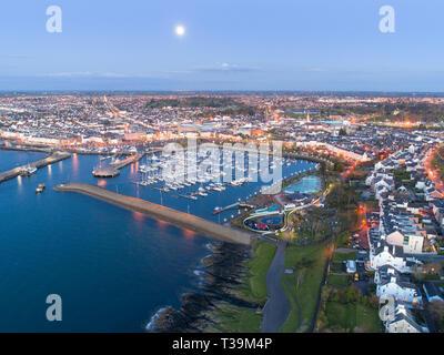 Bangor Marina liegt am südlichen Ufer des Belfast Lough gelegen Stockbild