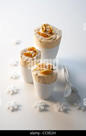 Kastanien-Eis Stockbild