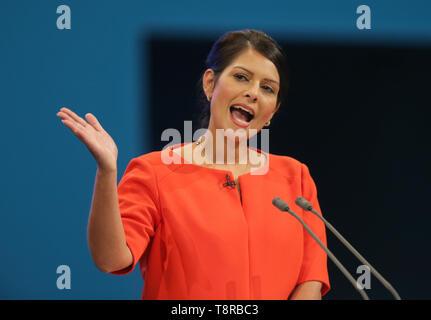 PRITI PATEL MP, 2017 Stockbild
