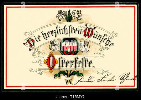 Deutschland, Hessen, Obersuhl, WK I, Propaganda, Additional-Rights - Clearance-Info - Not-Available Stockbild