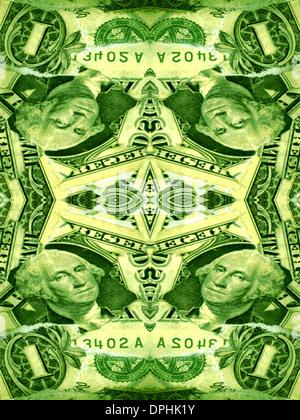 Ein Design mit amerikanischen Geld. Stockbild