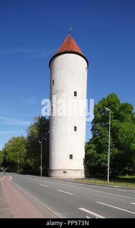 Alte Turm Buddenturm, Münster in Westfalen, Nordrhein-Westfalen, Deutschland Ich Münster in Westfalen: Buddenturm, WEHRTURM I Stockbild