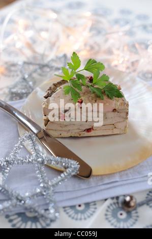 Foie Gras Mille-feuilles Stockbild