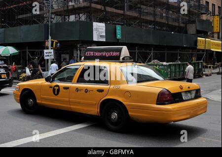 Yellow cab New york Stockbild