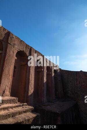 Bete gabriel Rafael/Kirche, Amhara-region, Lalibela, Äthiopien Stockbild