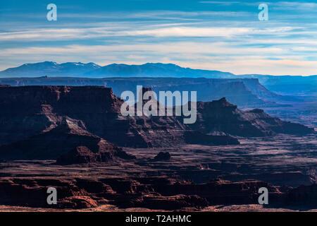 Blick vom Dead Horse State Park, UT, USA Stockbild