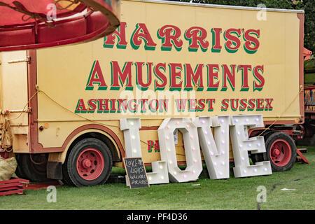 Harris' Messe Attraktion Lkw Stockbild