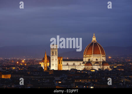 Dom am Abend, Florenz, Italien Stockbild