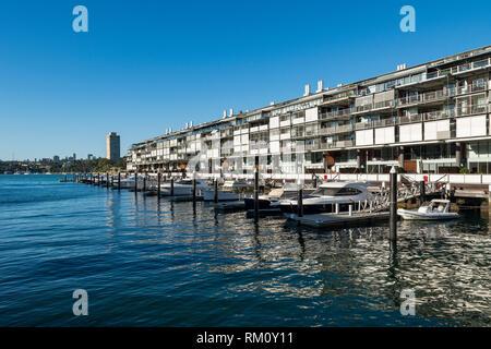 Waterside Sydney Wohnungen. Stockbild